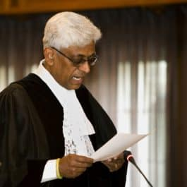 Judge P.S.Rao on the bench of the ICJ1